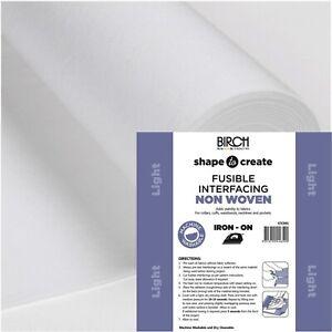 Birch Shape to Create Light IRON ON Interfacing - per metre