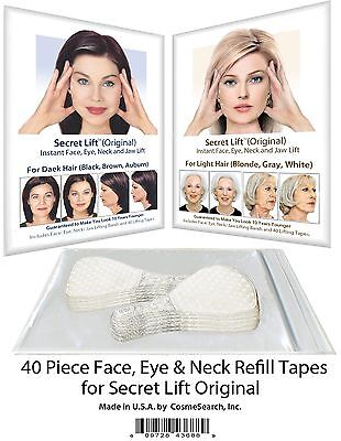 Instant Face Lift and Neck Lift Secret Lift Tapes Refill 40 Piece Set! Facelift