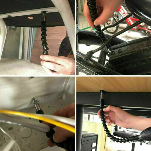 2TLG Bohrmaschine Schraubenzieher Flexibel Winkelaufsatz Für Akkuschrauber