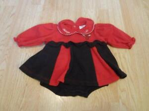 promo code 4b3db d9702 Details about Infant/Baby Girls Chicago Bulls 3/6 Months Vintage  Cheerleader Cheer Outfit Dres