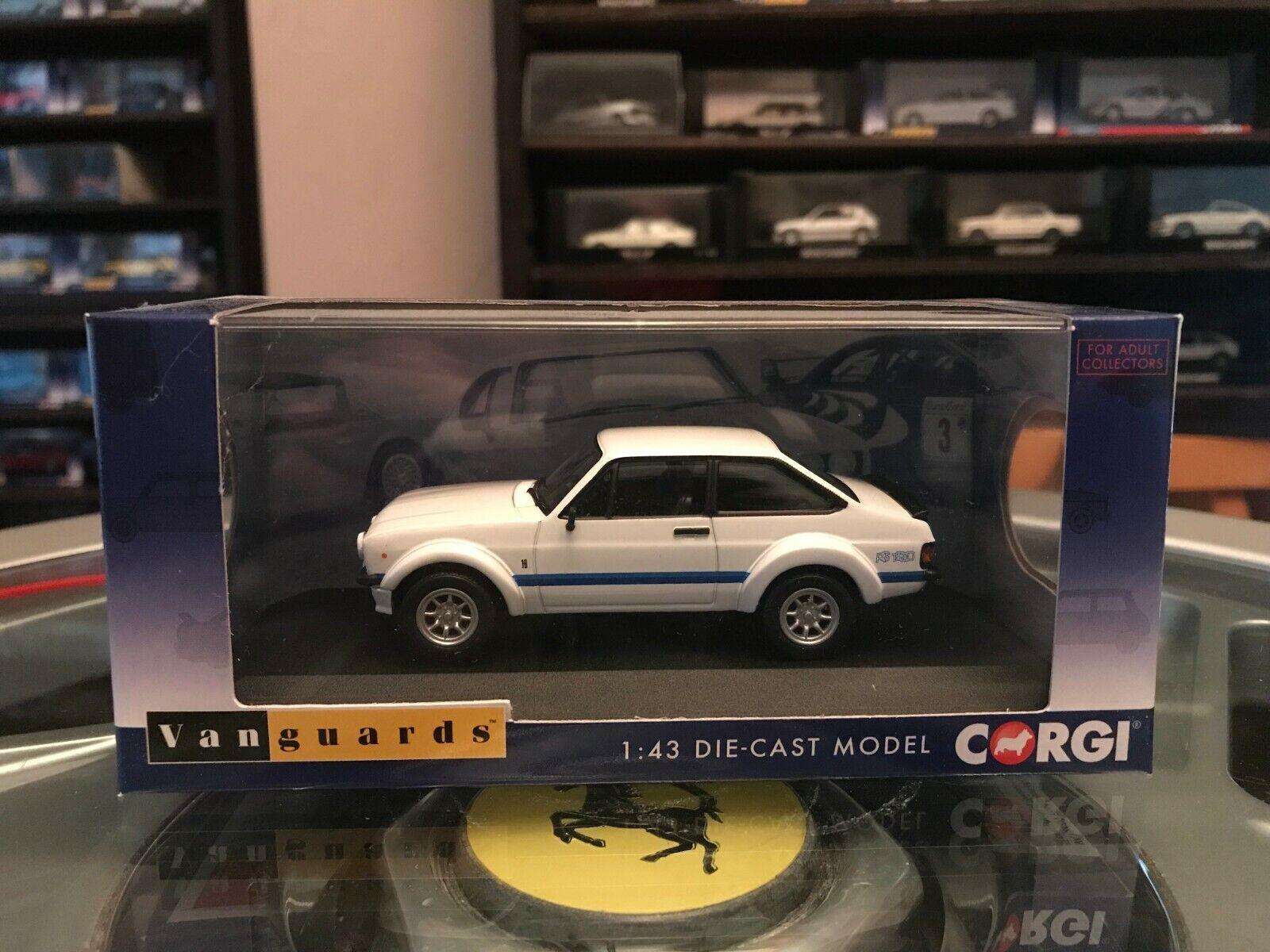 Vanguards Ford Escort Mk2 RS1800 Blanc Forêt Arches 1 43 En parfait état, dans sa boîte LTD ED VA12609