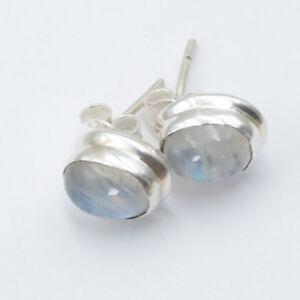 Mondstein-Ohrstecker-Silber-925-Ohrringe-weiss-blau-schimmernd-Sterlingsilber