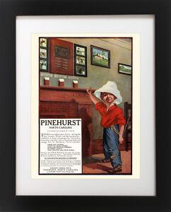 Antique-PINEHURST-Golf-Course-Club-Golfing-Resort-SCORECARD-BOY-Art-Print