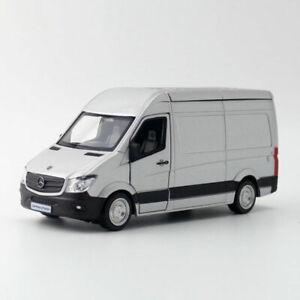 Sprinter-Van-Cargo-1-36-Die-Cast-Modellauto-Auto-Spielzeug-Model-Sammlung-Grau