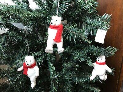 Gisela Graham Resin Dressed Polar Bear Decorative Christmas Tree Decoration