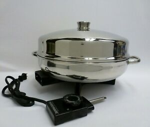 Vintage Farberware Stainless 12 Quot Electric Skillet Fry Pan