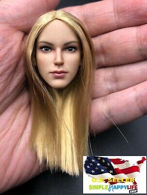 """1//6 Female FX07A Head Sculpt cheveux blonds Bronzage Pour 12/"""" PHICEN Verycool U.S.A."""