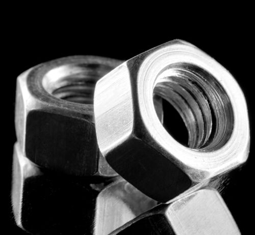 STANDARD PITCH METRIC HEXAGONAL STEEL FULL NUTS BRIGHT ZINC PLATED DIN934