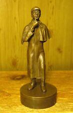 Sherlock Holmes by Arthur Conan Doyle - UNIQUE BRONZE STATUE high=11cm