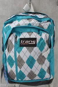 Trans by Jansport Blue White Gray MegaHertz Backpack ...