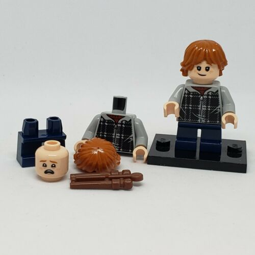 NEW auth LEGO minifigure Ron Weasley plaid shirt hp154 75950 75955 Harry Potter