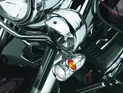 Kuryakyn 2303 Silver Small Bullet Halogen Light Kit