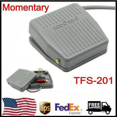 New TFS-201 AC 250V 10A Nonslip Surface Momentary Contact Foot Pedal Switch Gray