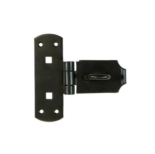 Heavy Duty Vertical Hasp and Staple Black Gate Shed Padlock BRASS PINS