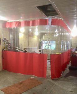 Fully Retractable Auto Body Garage Motorhome Repair Pvc Curtains