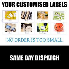 Pre Stampato testo Personalizzato Autoadesivo appiccicoso etichette indirizzo etichetta personalizzata