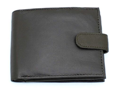 RFID NFC BLOCKING Real Leather Mans Wallet Zipped Zip Notes /& Coins Wallets 42