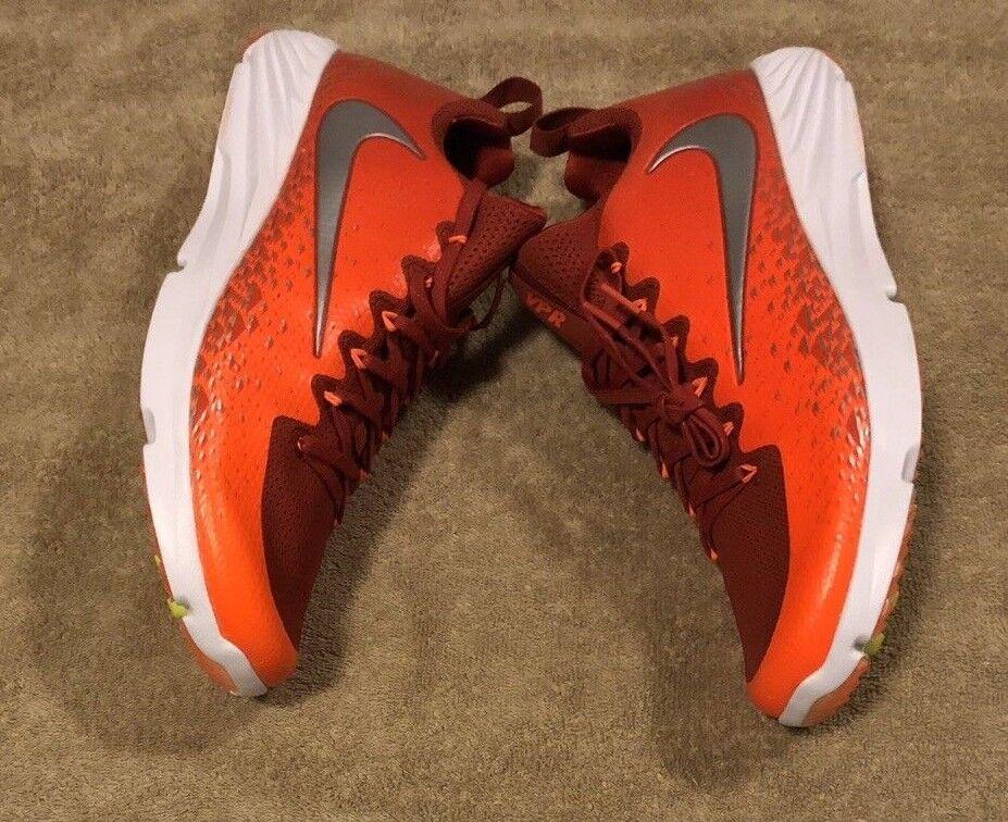 new style 7d6ed 9c5f2 Nike Vapor Speed Turf TF Football shoes orange orange orange Silver White Size  13 (833408
