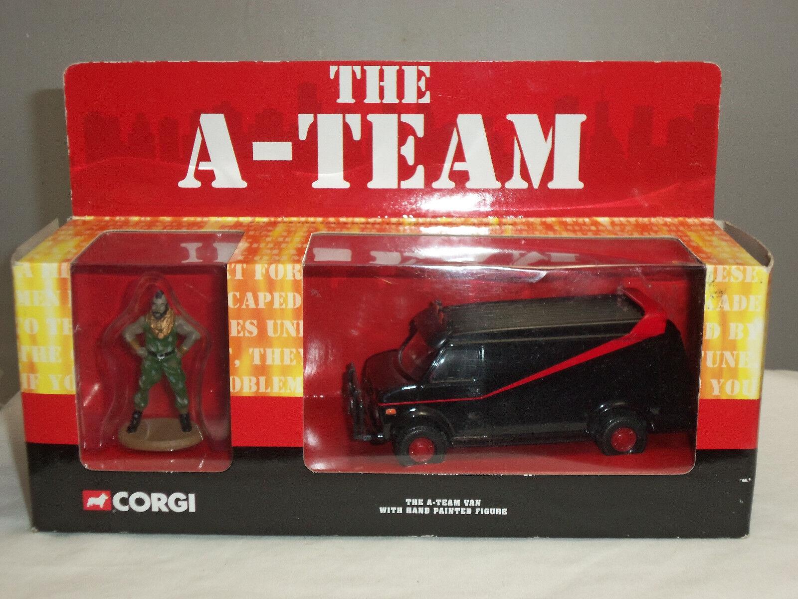 liquidación hasta el 70% Corgi CC87502 el equipo de un modelo modelo modelo Diecast GMC Camión Van Negro + BA Baracus figura  descuento
