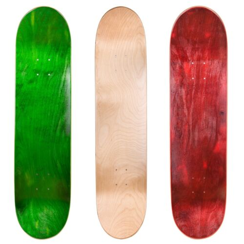 "3 x Cal 7 Blank Maple 8/"" Skateboard Deck Multi Color"