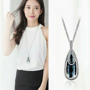 Luxury-Long-Drop-Chain-Charm-Pendant-Crystal-Jewelry-Women-Necklaces-Water-Gifts