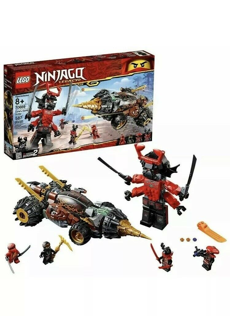 LEGO Ninjago Legacy 70669 Cole's Earth Driller 587pcs  Set Bre nuovo  grande sconto