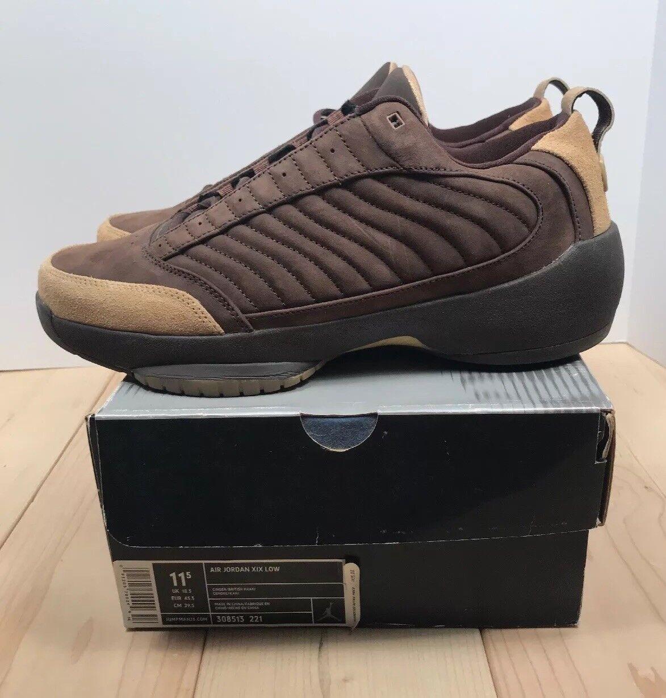 Air Jordan XIX (19) Low Mocha 2004 Basketball shoes Mens Size 11.5 RARE