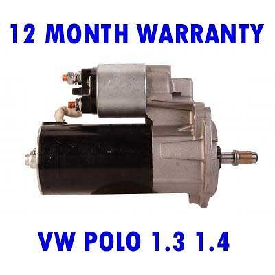 VW POLO 1.3 1.4 1986 1987 1988 1989 1990-1994 REMANUFACTURED STARTER MOTOR