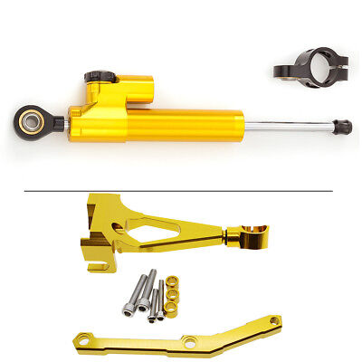For YAMAHA MT-09 FZ-09 13-15 Steering Damper Stabilizer CNC Bracket Mounting Kit