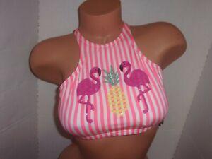 f3d95b8968c35 $66 Coco Rave striped high neck bikini top embroidered sequin ...