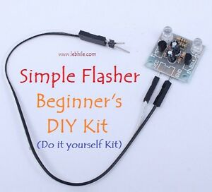 E52 simple 2 led 5mm flasher do it yourself diy kit flash light image is loading e52 simple 2 led 5mm flasher do it solutioingenieria Images