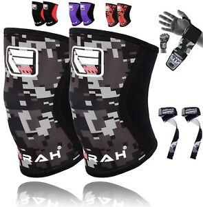Lifters-Knee-Sleeves-Pair-Free-Wrist-Wraps-Strap-Crossfit-Powerlifting-Squatting