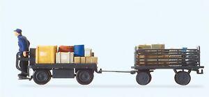 Preiser-10256-Chariot-Electrique-avec-Conducteur-Echelle-H0