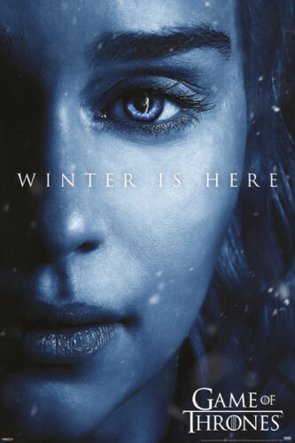 GAME OF THRONES WINTER IS HERE DAENERYS 24x36 POSTER GOT QUEEN OF DRAGONS FIRE!!