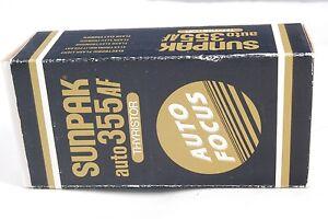 SunPak Auto 355 AF Thyristor Flash with a box 5105027 for Nikon NE