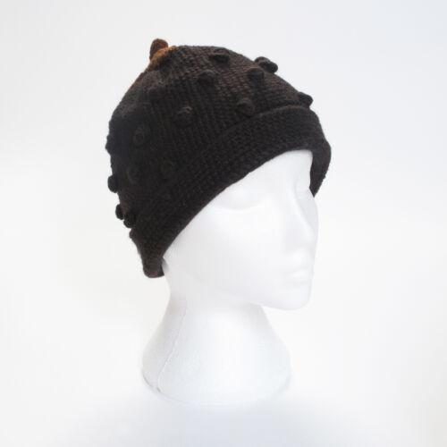 One Size UNISEX STH9 Hand Knitted Strawberry Style Winter Woollen Beanie Hat