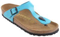 Birkenstock Gizeh Birko-flor Cork Thong Sandals - Blue Patent (art: 845201)