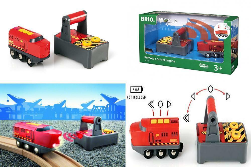 BRIO World - 33213 Remote Control Train Engine   2 Piece Juguete for Kids...