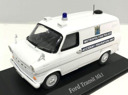 ATLAS BRITISH POLICE CARS 1//43 FORD TRANSIT VAN MKI METROPOLITAN POLICE LONDON