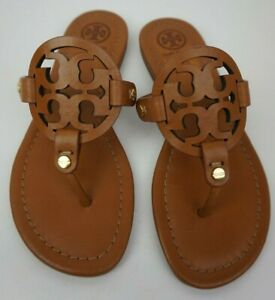 Tory Burch Miller Sandals Flip Flops Vintage Vachetta Leather Size 4 5 M Ebay
