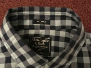 ABERCROMBIE-amp-FITCH-MENS-LONG-SLEEVE-BLACK-WHITE-CHECK-SHIRT-SIZE-XS