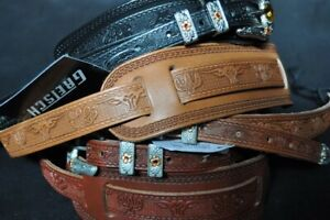 Gretsch Tooled Leather Guitar Strap Walnut  2-Pack