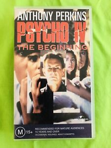 Details About Psycho Iv The Beginning 1990 Anthony Perkins Vhs Tape Pal Rare