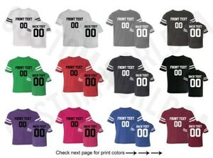 pretty nice 732fb 4a38e Details about Customized Toddler Football Jersey Tee Team Name Number Text  Personalized Shirt