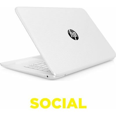 "HP Stream 14-ax054sa 14"" Laptop 32GB eMMC 2GB RAM Windows 10 Bluetooth 4.2 White"