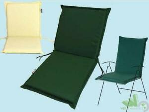 Cuscini Con Schienale Per Sedie Da Esterno : Cuscino ricambio sfoderabile per sedia poltrona esterno verde