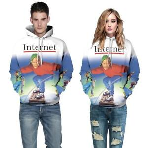 4ff86cde Image is loading 90s-Internet-Kid-Pattern-Pullover-Hoodie-Jacket-Shirt-