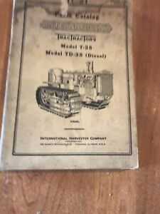 Vintage-Original-International-TracTractirs-Model-T-35-And-TD-35-Parts-Catalog