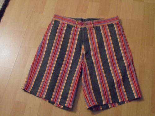 Nuovi Pantaloni Uomo Bermuda Corto a Righe tg 48 COTONE N 4515