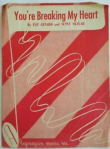 You-039-re-Breaking-My-Heart-1948-Sheet-Music-Pat-Genaro-amp-Sunny-Skylar